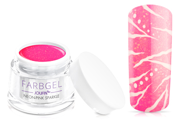 Jolifin Farbgel neon-pink sparkle 5ml