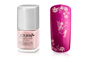 Jolifin Stamping-Lack - light pink 12ml