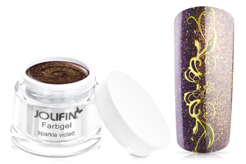 Jolifin Farbgel sparkle violett 5ml