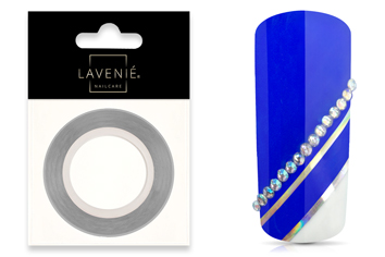 Jolifin LAVENI Pinstripes rainbow silver - 1mm