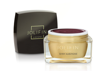 Jolifin LAVENI Farbgel - shiny aubergine 5ml