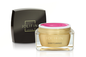 Jolifin LAVENI Farbgel - shiny flamingo 5ml