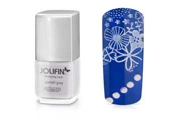 Jolifin Stamping-Lack - pastell-grey 12ml