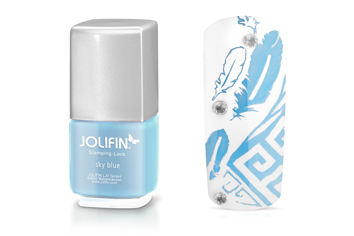 Jolifin Stamping-Lack - sky blue 12ml