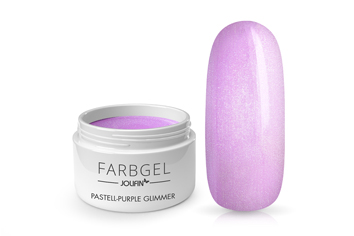 Jolifin Farbgel pastell-purple Glimmer 5ml