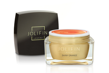 Jolifin LAVENI Farbgel - shiny orange 5ml