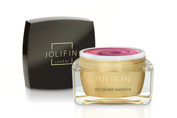 Jolifin LAVENI Farbgel - goldshine magenta 5ml