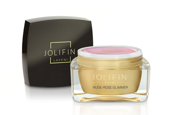 Jolifin LAVENI Farbgel - nude-rose Glimmer 5ml