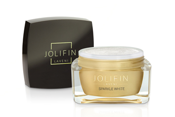 Jolifin LAVENI Farbgel - sparkle white 5ml