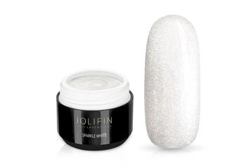 Jolifin LAVENI Farbgel - sparkle white 5ml
