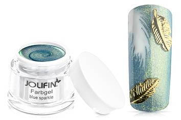 Jolifin Farbgel blue sparkle 5ml