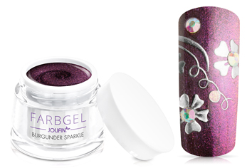 Jolifin Farbgel burgunder sparkle 5ml