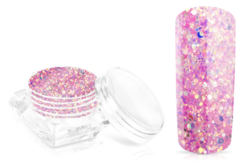 Jolifin Glossy Glitter - candy pink