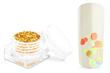 Jolifin Bubble Glitter - melone orange