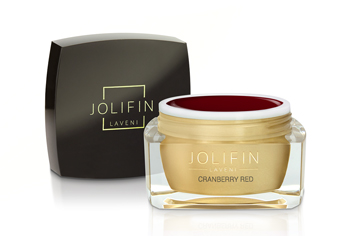 Jolifin LAVENI Farbgel - cranberry red 5ml