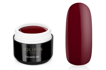 Jolifin LAVENI Farbgel - cranberry red 5ml