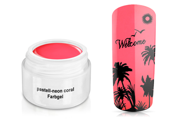 Farbgel pastell-neon coral 5ml