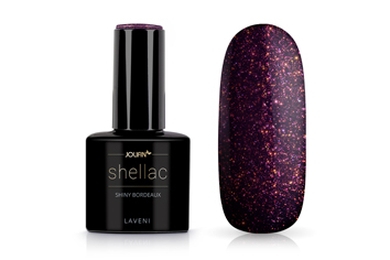 Jolifin LAVENI Shellac - shiny bordeaux 12ml