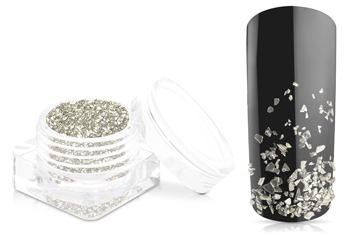 Jolifin Luxury Nailart Splitter - Silber fein