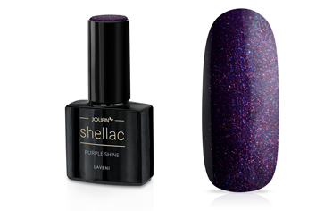 Jolifin LAVENI Shellac - purple shine 12ml