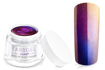 Jolifin Flip-Flop Farbgel violet galaxy 5ml