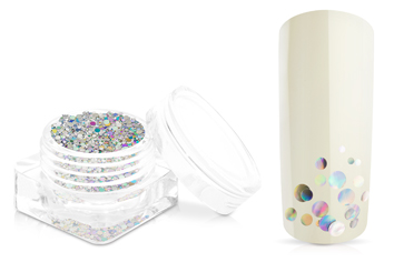Jolifin Bubble Glitter - silver