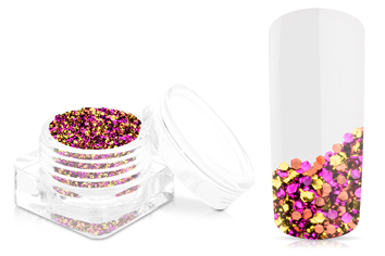 Jolifin Chrome Glitter - golden pink