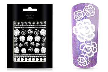 Jolifin LAVENI - XL Sticker white 4