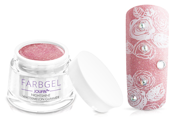 Jolifin Farbgel Nightshine watermelon Glimmer 5ml