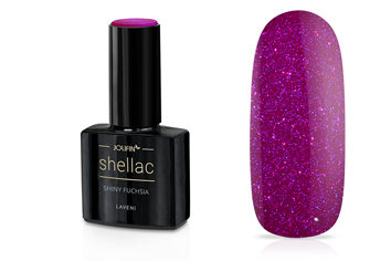 Jolifin LAVENI Shellac - shiny fuchsia 12ml