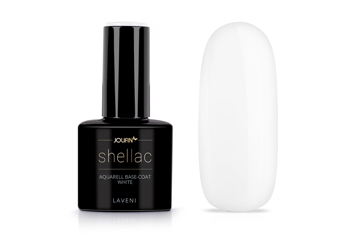 Jolifin LAVENI Shellac Aquarell - Base-Coat white 12ml