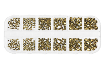 Jolifin LAVENI XL Strass-Display - golden chrome