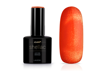Jolifin LAVENI Shellac - Cat-Eye orange 12ml