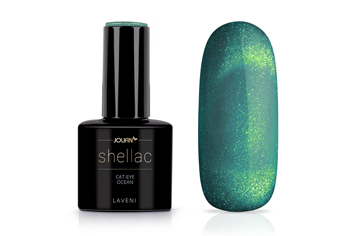 Jolifin LAVENI Shellac - Cat-Eye ocean 12ml