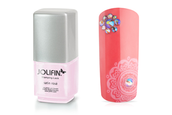 Jolifin Stamping-Lack - satin rosé 12ml