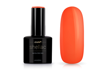 Jolifin LAVENI Shellac - neon-fire red 12ml