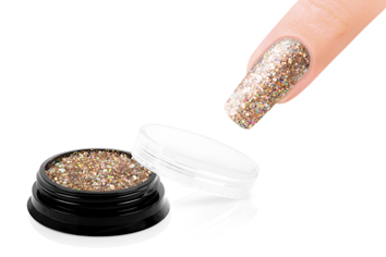 Jolifin LAVENI Luxury Glitter - golden champagne