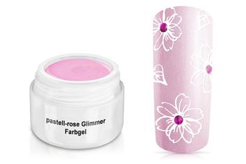 Farbgel pastell-rose Glimmer 5ml