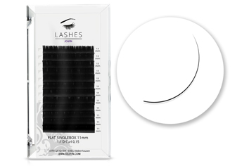 Jolifin Lashes - SingleBox Flat 11mm - 1:1 D-Curl 0,15