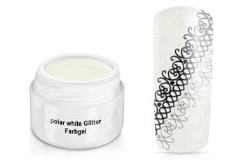 Farbgel polar white Glitter 5ml