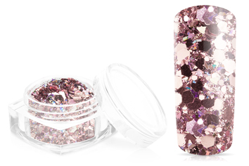 Jolifin Hexagon Glittermix luxury rosé-gold