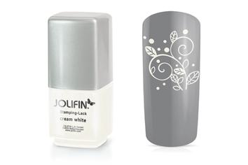 Jolifin Stamping-Lack - cream white 12ml