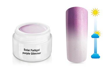 Solar Farbgel purple Glimmer 5ml