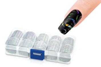 Jolifin Transfer-Nagelfolien Box - Hologramm silber