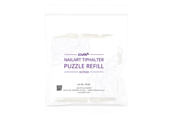 Jolifin Nailart Tiphalter - Puzzle Refill-Tips 50 Stk.