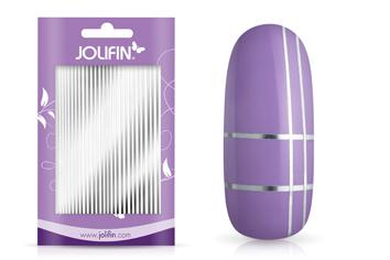 Jolifin Aurora Sticker - Stripes silver chrome