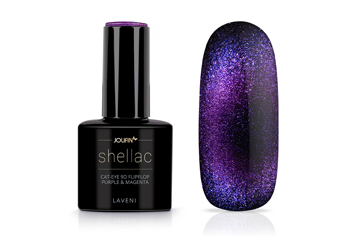 Jolifin LAVENI Shellac - Cat-Eye 9D FlipFlop purple & magenta 12ml
