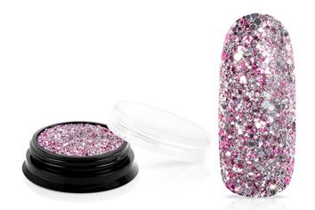 Jolifin LAVENI Luxury Glitter - silver magenta