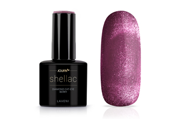 Jolifin LAVENI Shellac - Diamond Cat-Eye berry 12ml