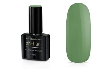 Jolifin LAVENI Shellac - pastell-navy green 12ml